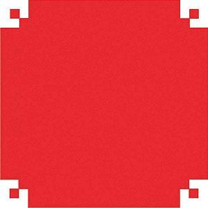 Papel Celofane 80X80Cm. Liso Vermelho V.m.p.