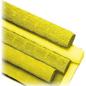 Papel Crepon Super Crepe 48Cmx2,50M Liso Amarelo V.m.p.