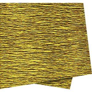 Papel Crepon 48Cmx2,00M. Ouro Impermeavel Novaprint