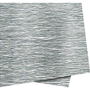 Papel Crepon 48Cmx2,00M. Prata Impermeavel Novaprint