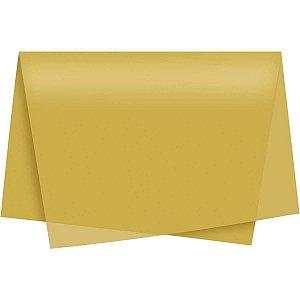 Papel De Seda Ouro 49X69Cm Cromus