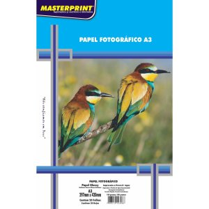 Papel Fotografico Inkjet A3 180G Masterprint