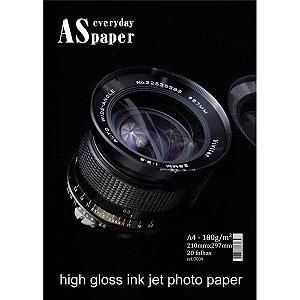 Papel Fotografico Inkjet A4 Gloss Everyday Paper 180G Usa Folien