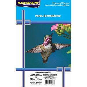 Papel Fotografico Inkjet A4 Glossy 120G Masterprint