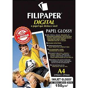 Papel Fotografico Inkjet A4 Glossy 150G Filiperson