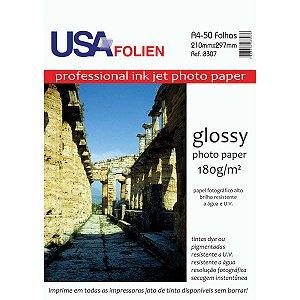 Papel Fotografico Inkjet A4 Glossy 180G Usa Folien