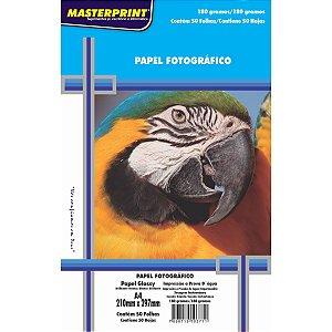 Papel Fotografico Inkjet A4 Glossy 180G Masterprint
