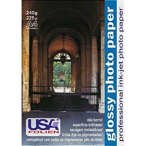 Papel Fotografico Inkjet A4 Glossy 240G Usa Folien