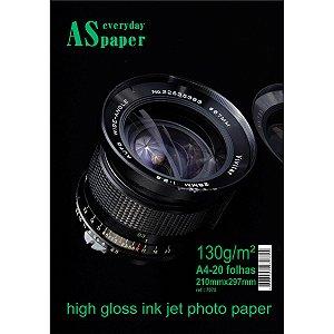 Papel Fotografico Inkjet A4 High Glossy Everyday 130G. Usa Folien