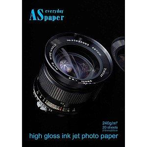Papel Fotografico Inkjet A4 High Glossy Everyday 240G Usa Folien