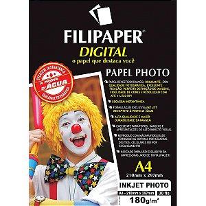 Papel Fotografico Inkjet A4 Photo Profissional 180G Filiperson