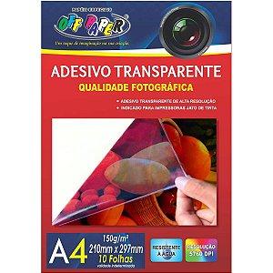 Papel Fotografico Inkjet A4 Transparente Adesivo 150G Off Paper