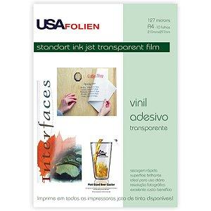 Papel Fotografico Inkjet A4 Vinil Adesivo Transparente Usa Folien