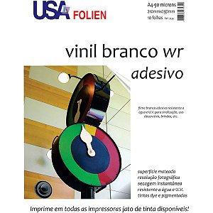 Papel Fotografico Inkjet A4 Vinil Branco Adesivo 90G Usa Folien