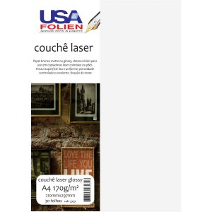 Papel Fotografico Laser A4 Glossy Couche 170G Usa Folien