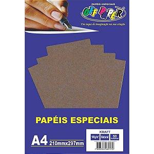 Papel Kraft Folha Kraft Natural A4 180G. Off Paper