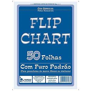 Papel Para Flip-Chart Serrilhado 64X88 50Fls. Tamoio