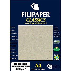 Papel Para Impressao Reciclado Natural A4 180Gr. Filiperson