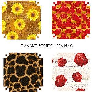Papel Presente 60X96Cm Couche Linha Diamante Feminino 4Mod. V.m.p.