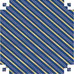 Papel Presente Bobina Couche 40Cm.mod 160 Listrado Azul/our V.m.p.