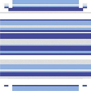 Papel Presente Bobina Couche 40Cm.mod.345 Listrado Azul V.m.p.
