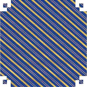 Papel Presente Bobina Couche 60Cm.mod.160 Listrado Azul/our V.m.p.