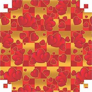 Papel Presente Bobina Couche 60Cm.mod.235 Coracao Vermelho V.m.p.