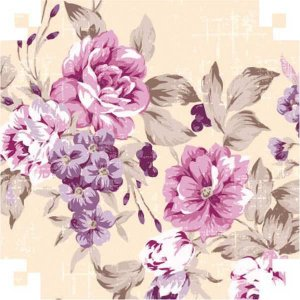 Papel Presente Bobina Couche 60Cm.mod.361 Floral V.m.p.
