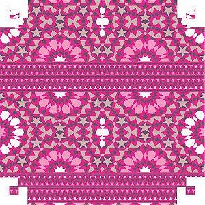 Papel Presente Bobina Couche 60Cm.mod.542 Ilusoes Pink V.m.p.