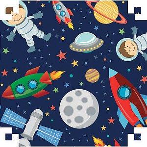 Papel Presente Bobina Couche 60Cm.mod.621 Astronauta V.m.p.