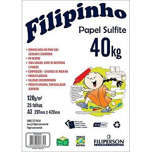 Papel Sulfite A3 40 Kilos 25Fls. Branco Filiperson