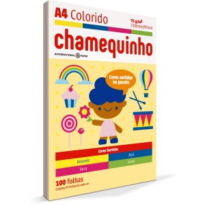Papel Sulfite A4 Colorido Chamequinho 75G 4 Cores International Paper