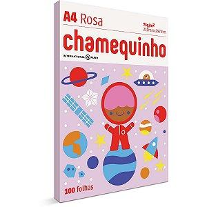 Papel Sulfite A4 Colorido Chamequinho 75G Rosa International Paper