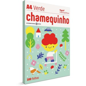 Papel Sulfite A4 Colorido Chamequinho 75G Verde International Paper