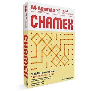 Papel Sulfite A4 Colorido Chamex 75G Amarelo International Paper