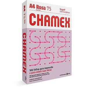 Papel Sulfite A4 Colorido Chamex 75G Rosa International Paper