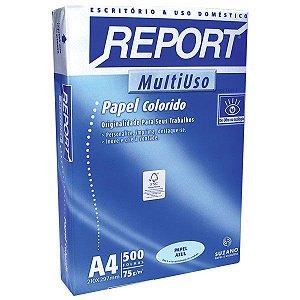 Papel Sulfite A4 Colorido Report Multiuso 75 G Azul Suzano
