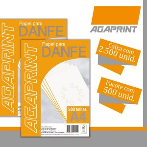 Papel Sulfite A4 Danfe C/ Serrilha 5Pctx500Fls 75G. Agaprint