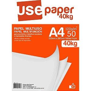 Papel Sulfite A4 40 Kilos Branco 120G Romitec