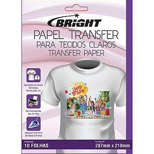 Papel Transfer A-4 Tecidos Claros Bright
