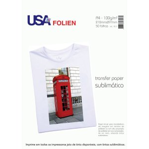 Papel Transfer P/sublimacao A4 100G Usa Folien