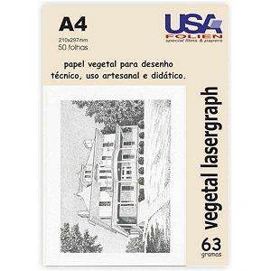 Papel Vegetal A4 60G. 210X297Mm Usa Folien