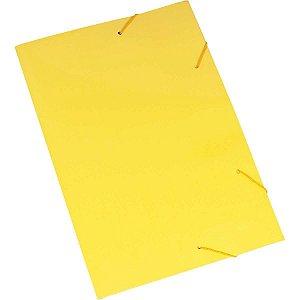 Pasta Aba Elastica Papel Oficio Amarela Polycart