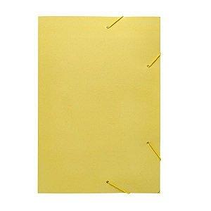Pasta Aba Elastica Papel Oficio Amarelo Pastel Polycart