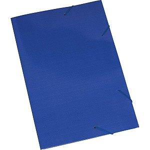 Pasta Aba Elastica Papel Oficio Azul Polycart