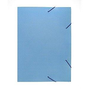 Pasta Aba Elastica Papel Oficio Azul Pastel Polycart
