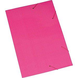 Pasta Aba Elastica Papel Oficio Rosa Polycart