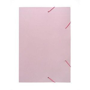 Pasta Aba Elastica Papel Oficio Rosa Pastel Polycart