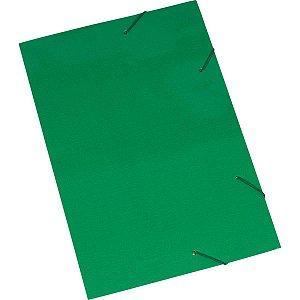 Pasta Aba Elastica Papel Oficio Verde Polycart