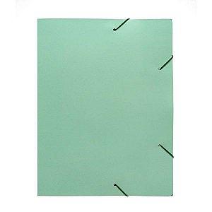 Pasta Aba Elastica Papel Oficio Verde Pastel Polycart
